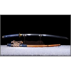 Handmade Japanese Samurai Katana Battle Ready Clay Tempered Kobuse Blade Razor Sharp Full Tang Tachi Sword