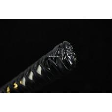Hand forged Japanese Samurai Katana Sword Clay Tempered T10 Steel Unokubi Zukuri Razor Sharp Blade