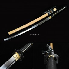 Clay Tempered Japanese Samurai Katana Sword T10 Steel Unokubi Zukuri Razor Sharp Blade