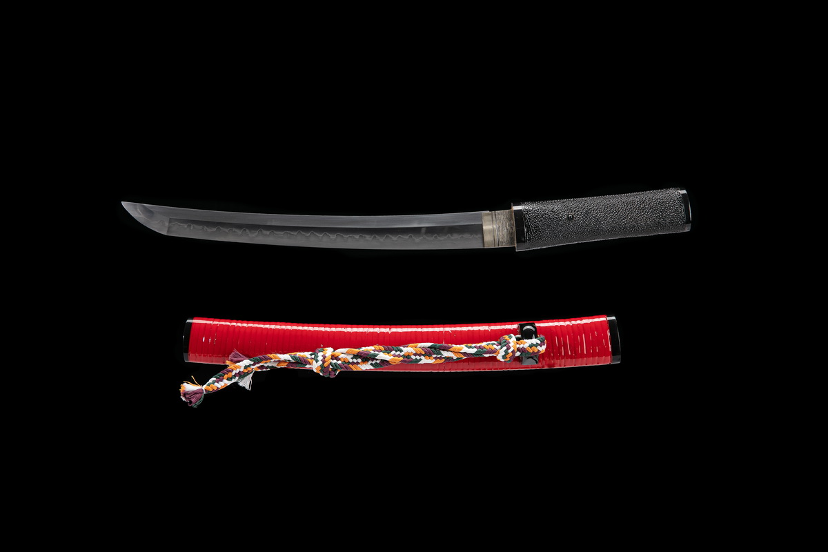 Janpanese Tanto Clay Tempered Folded Steel Shihozume Blade Sword