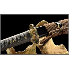 Handmade Battle Ready Clay Tempered L6 Fold Steel  Razor Sharp Blade Japanese Samurai Katana Full Tang Sword