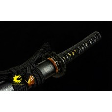 Battle Ready Clay Tempered L6 Steel Japanese Samurai Katana Sword Snake Choji