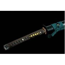 Clay Tempered T10 Steel Blade Choji Hamon Japanese Katana Sword UNOKUBI ZUKURI