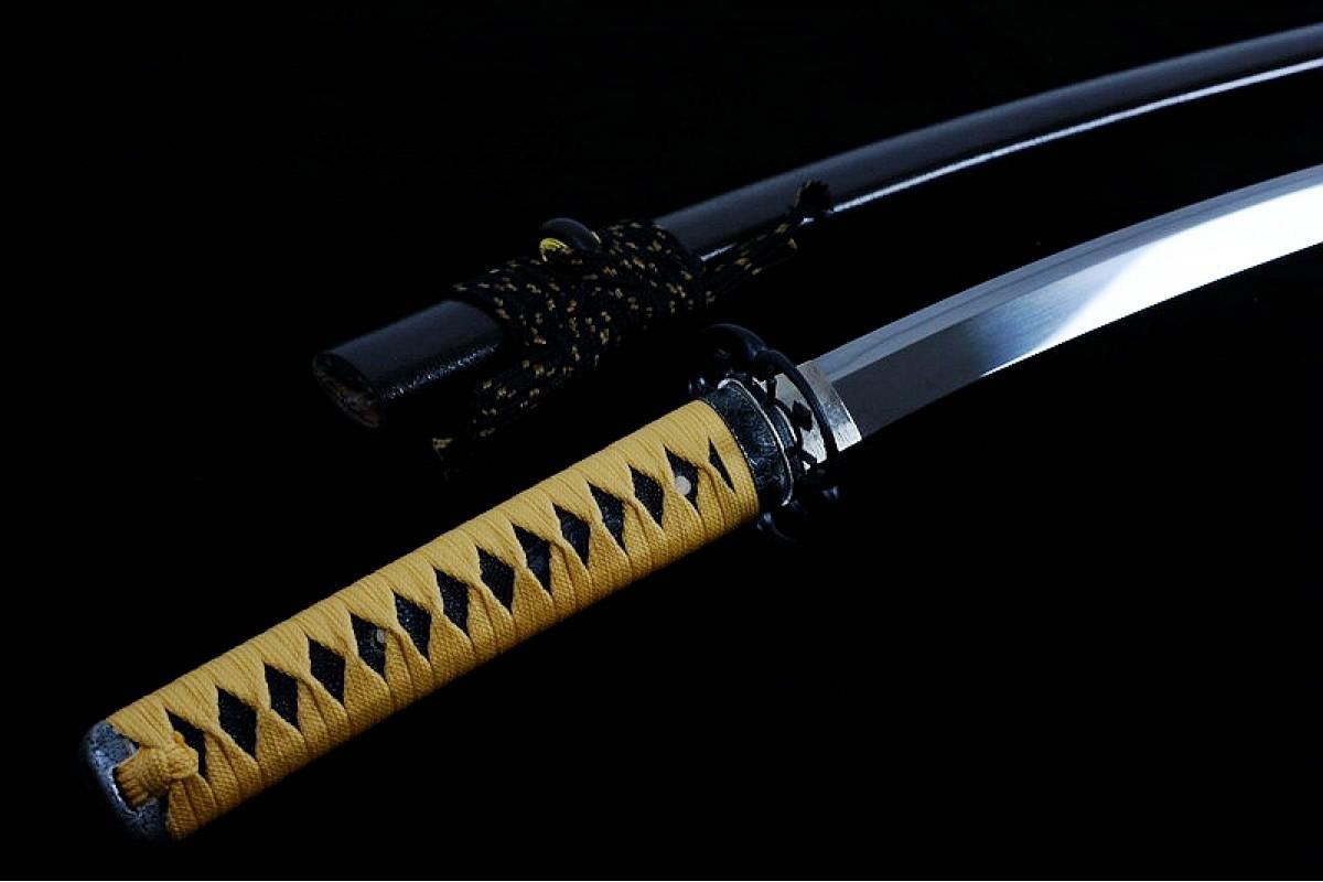 Handmade Clay Tempered L6 Steel Japanese Samurai Katana Sword Razor Sharp  Suguha Hamon