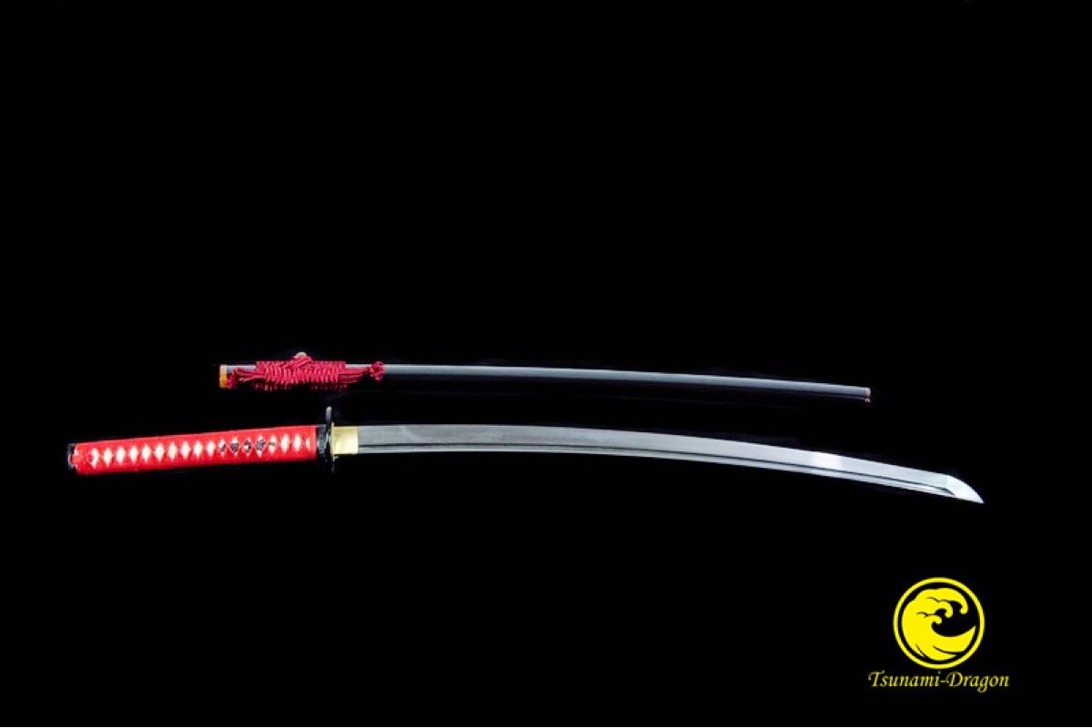 Handmade OilQuench Folded Steel Blade Japanese Katana Samurai Sword Battle Ready
