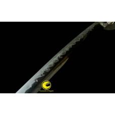 Handmade Clay Tempered T10 steel Japanese Samurai Katana Sword Top Choji Hamon