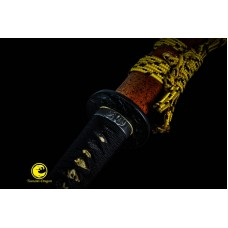 Clay Tempered (恶鬼)Sanmai Blade Battle Ready Japanese Katana Sword Full Tang