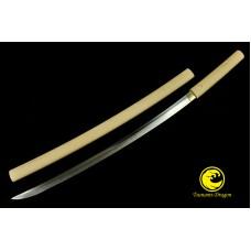Battle Clay Tempered Japanese Samurai Choji Hamon Blade Shirasaya Katana Sword