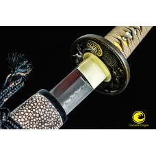 Battle Ready Japanese Samurai Wakizashi Sword Clay Tempered Shihozume Blade Full Tang Razor Sharp