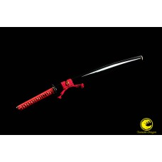 Battle Ready Clay Tempered L6 Steel Blade Japanese Samurai Katana Sword Suguha Razor Sharp Full Tang