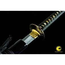 Japanese Katana Sword Clay Tempered Kobuse Folded Steel Razor Sharp Full Tang Blade