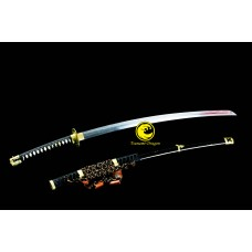 Battle Ready Razor Sharp Japanese Samurai Tachi Sword Clay Tempered Kobuse Folded Steel Razor Sharp
