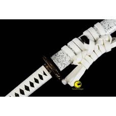 Battle Ready Clay Tempered L6 Steel Suguha Hamon Razor Sharp Blade Japanese Samurai Katana Full Tang Sword