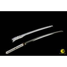 Battle Ready Clay Tempered L6 Steel Suguha Hamon Razor Sharp Blade Japanese Samurai Katana Full Tang Sword