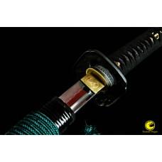 Battle Ready Clay Tempered Japanese Katana Sword Kobuse Folded Steel Blade Unokubi Zukuri  Razor Sharp Full Tang