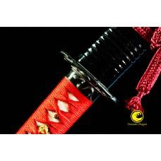 Clay Tempered Japanese Samurai Katana Choji Hamon Sword Unokubi Zukuri O-kissaki Razor Sharp Full Tang Shinken