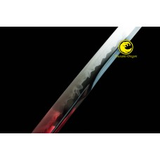 Battle Ready Clay Tempered Japanese Katana Choji Hamon Sword Unokubi Zukuri  Razor Sharp Full Tang