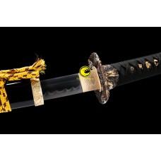 Handmade Battle Ready Clay Tempered T10 Steel Japanese Katana Samurai Sword Full Tang Razor Sharp Blade Sword