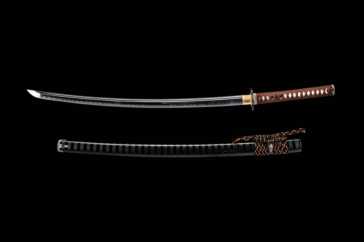 Clay Tempered Japanese Kobuse Lamination Folded Steel Razor Sharp Blade Sword