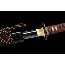 Japanese Samurai Sword Clay Tempered Kobuse Lamination Folded Steel Razor Sharp Blade Katana