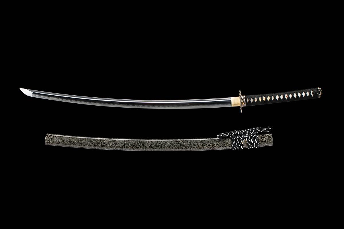 Japanese Kobuse Lamination Folded Steel Razor Sharp Blade Sword