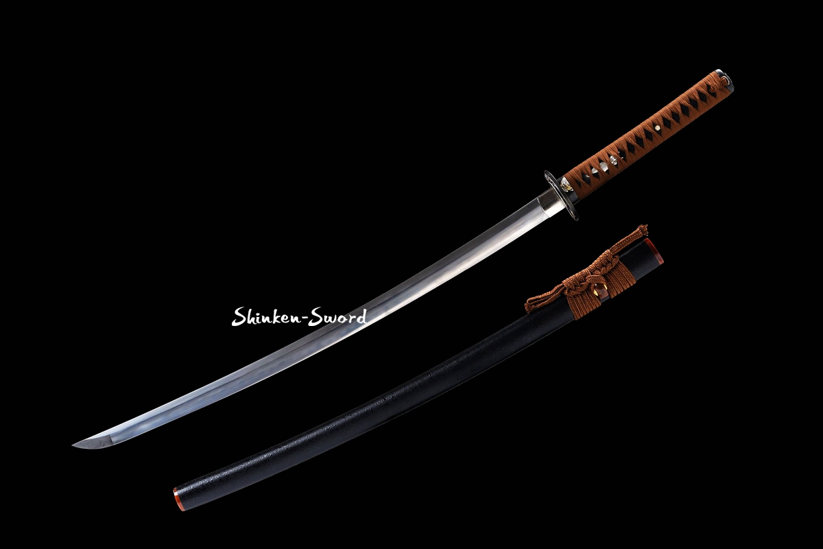 Clay Tempered Japanese Katana Samurai Sword Kobuse Folded Steel Sharp Blade