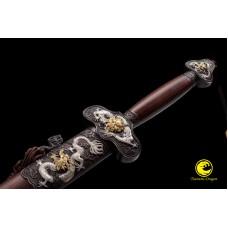 Top Collection Handmade Battle Ready Chinese Sword Jian Folded Steel Full Tang Blade Razor Sharp