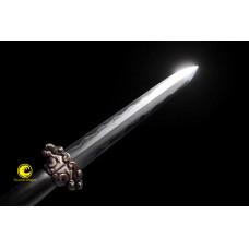 Handmade Battle Ready Chinese Sword Jian Clay Tempered Folded Steel Full Tang Blade Razor Sharp