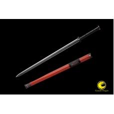 Handmade Battle Ready Chinese Sword Jian Damascus Folded Steel Full Tang Blade Razor Sharp