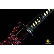 Razor Sharp Japanese Battle Ready Red Blade 9260 Spring Steel Katana Sword Full Tang