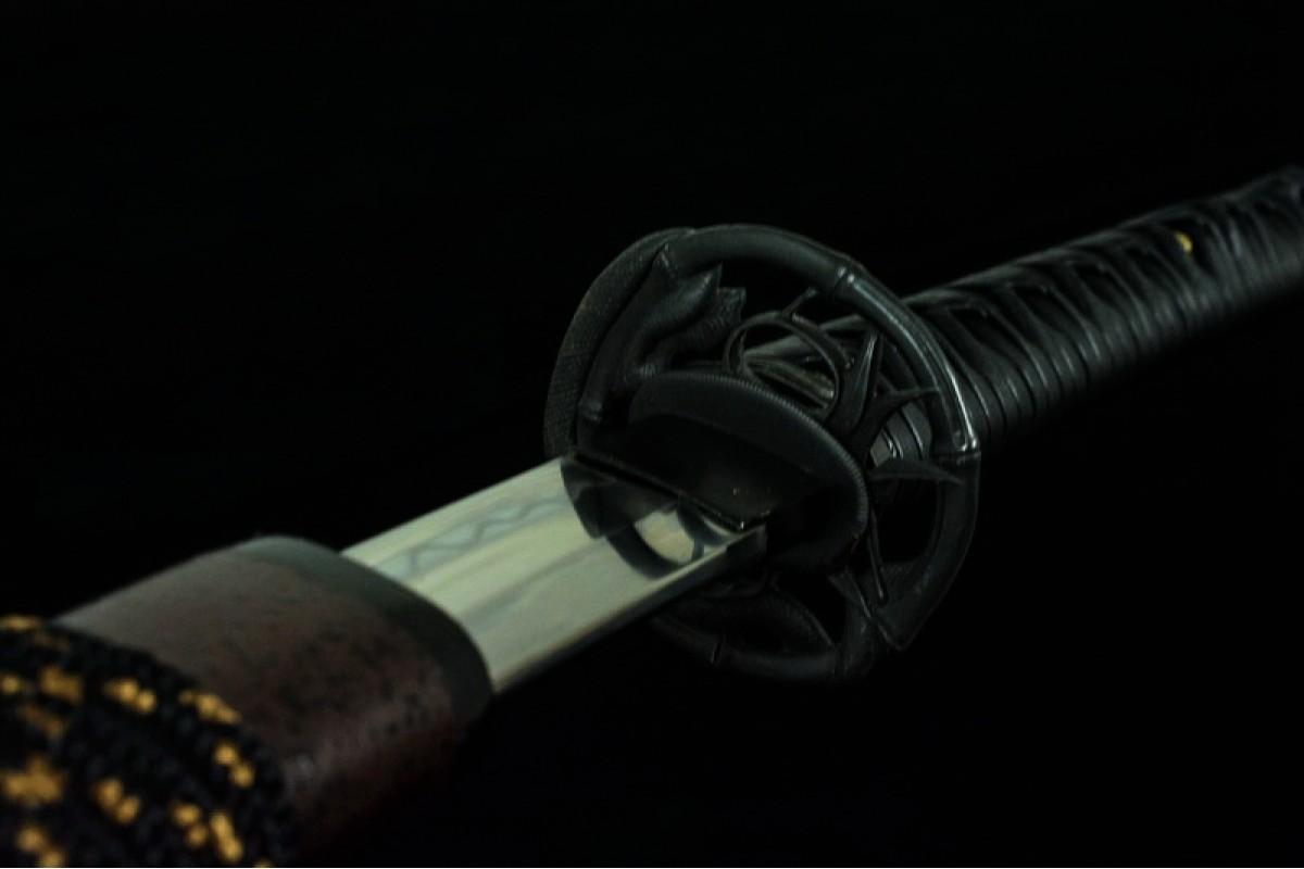 Battle Ready Japanese Katana Clay Tempered T10 Steel Blade Samurai Sword Snake Razor Sharp