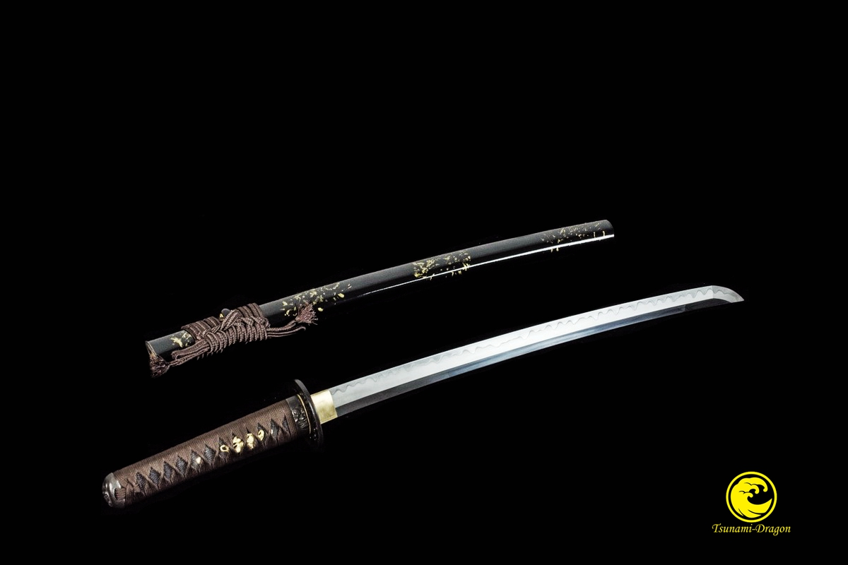 Battle Ready Japanese Clay Tempered L6 Steel Blade Wakizashi Sword Razor  Sharp