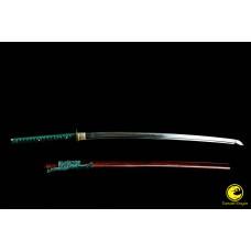 Battle Ready Razor Sharp Clay Tempered Japanese Samurai Katana T10 Steel Cutting Blade Sword Full Tang