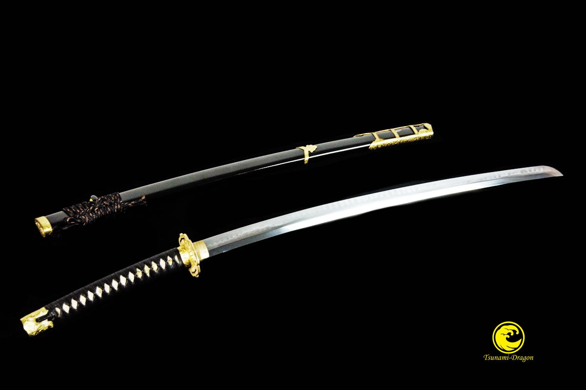 Handmade Clay Tempered Shihozume Blade Japanese Katana Tachi Samurai Sword