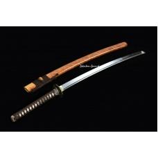 Japanese Katana Sword Clay Tempered T10 Steel Real Hamon Razor Sharp Full Tang Blade