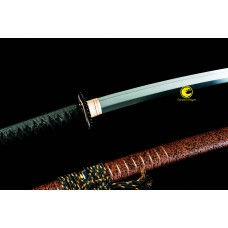 Clay Tempered Japanese Samurai Katana Sword Battle Ready L6 Steel Suguha Hamon Blade Full Tang Razor Sharp