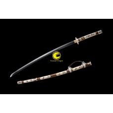 Clay Tempered Samurai Japanese Long Tachi Sword Folded Kobuse Steel Blade Razor Sharp