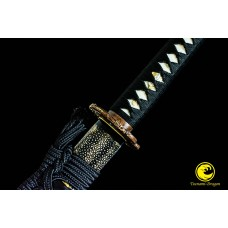 Battle Ready Clay Tempered T10 Folded Kobuse Steel Blade Japanese Katana Wakizashi Sword Set