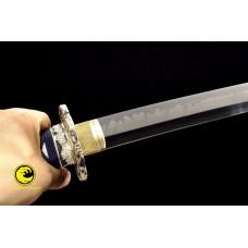 Battle Ready Clay Tempered L6 Steel Blade Japanese Samurai Katana Sword Razor Sharp