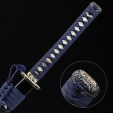 Hand Forged Japanese Katana Clay Tempered T10 Steel Samurai Sword Razor Sharp Blade