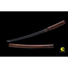 Battle Ready Samurai Clay Tempered Choji Hamon Shinogi Zukuri Blade Japanese Wakizashi Shirasaya Sword