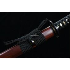 Handmade Japanese Samurai Katana Sword Clay Tempered T10 Steel Razor Sharp Full Tang Blade