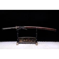 Japanese Katana Hand Forged Clay Tempered T10 Steel Hitatsura Hamon Blade Samurai Sword