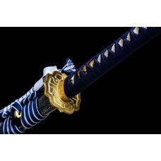 Hand Forged Battle Ready Clay Tempered L6 Steel Hitatsura Hamon Blade Japanese Katana Samurai Tachi Sword