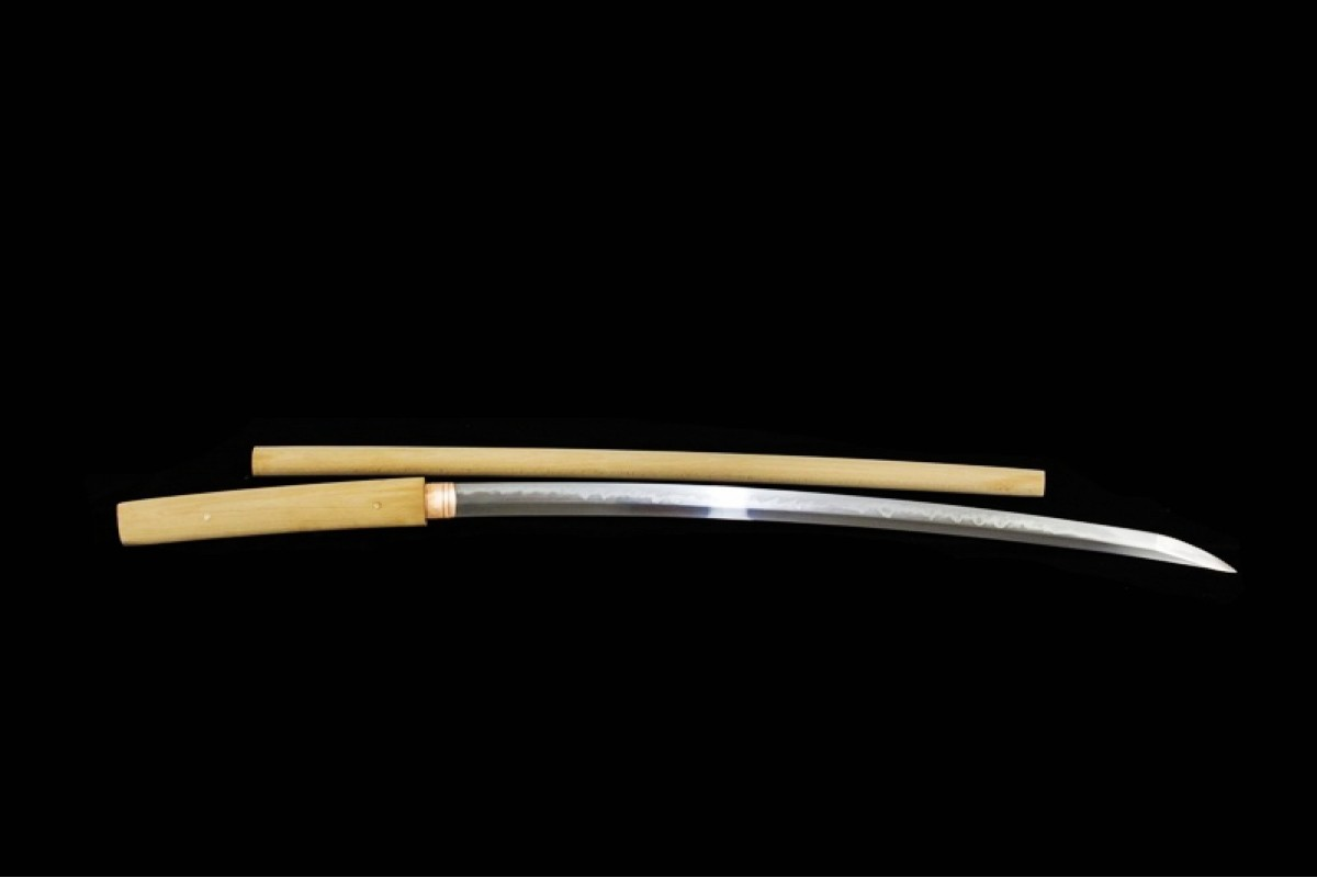 Japanese Samurai Clay Tempered T10 Steel Choji Hamon Blade Shirasaya Katana Sword