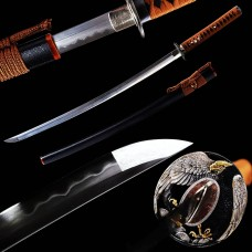 Japanese Katana Samurai Sword Clay Tempered Kobuse Folded Steel Razor Sharp Blade