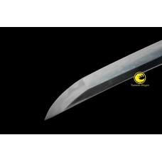 Japanese Battle Ready  Clay Tempered Samurai Wakizashi Sword Kobuse Folded Steel Full Tang Blade Sharp