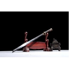 Battle Ready Clay Tempered Japanese Sword T10 Steel Blade Razor Sharp Full Tang Ninja