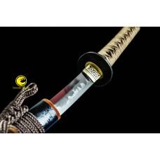Handmade Battle Ready Full Tang Clay Tempered Choji Hamon Japanese Samurai Katana Sword