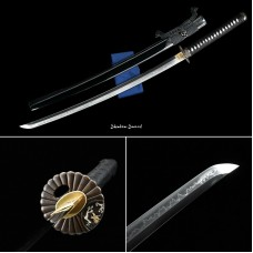 Japanese Samurai Katana Sword Clay Tempered T10 Steel Choji Hamon Razor Sharp Blade